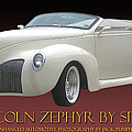 1939 Lincoln Zephyr Poster by Jack Pumphrey