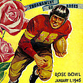 1946 Rose Bowl Program Poster by David Patterson