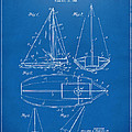 1948 Sailboat Patent Artwork - Blueprint Print by Nikki Marie Smith