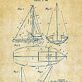 1948 Sailboat Patent Artwork - Vintage Print by Nikki Marie Smith