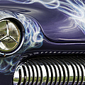 1949 Mercury Eight Hot Rod Print by Tim Gainey