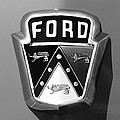 1950 Ford Custom Deluxe Station Wagon Emblem Print by Jill Reger