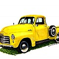 1953 G M C 5-Window Pick-up Poster by Jack Pumphrey