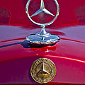 1953 Mercedes Benz Hood Ornament Print by Jill Reger