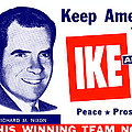 1956 Vote Ike and Dick Print by Historic Image