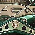 1958 Chevrolet Impala Steering Wheel Print by Jill Reger
