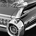 1959 Black and White Caddy Poster by Rich Franco