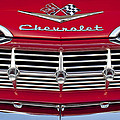 1959 Chevrolet Grille Ornament Print by Jill Reger