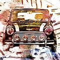 1960s Mini Cooper Print by David Ridley
