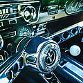 1965 Shelby prototype Ford Mustang Steering Wheel Emblem 2 Poster by Jill Reger