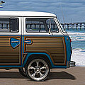 1970 VW Bus Woody Poster by Mike McGlothlen