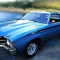 1971 Chevy Chevelle Print by Robert Smith