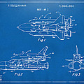 1975 Space Shuttle Patent - Blueprint Poster by Nikki Marie Smith
