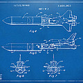 1975 Space Vehicle Patent - Blueprint Poster by Nikki Marie Smith