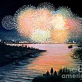 4th of July Gloucester Harbor Print by Eileen Patten Oliver