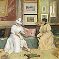 A Friendly Call Print by William Merritt Chase