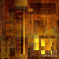 Abstract in Brown with Light  Print by Sven Pfeiffer