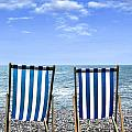 beach chairs Poster by Joana Kruse