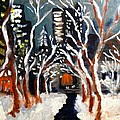 Bryant Park Winter Night NYC Poster by Jean Messner