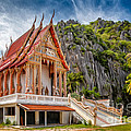 Buddhist Temple Print by Adrian Evans