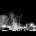 Budweiser Lightning Thunderstorm Moving Out BW Print by James BO  Insogna