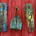 Buoys at Rockport Motif Number One Lobster Shack Maritime Print by Jon Holiday
