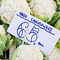 Cauliflower Print by Tom Gowanlock