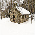 Chapel in the Woods Stowe Vermont Print by Edward Fielding