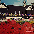 churchill downs Print by Nickie Mantlo