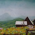 Crested Butte Barns Poster by Judy Sprague