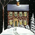 Evergreen Cottage Poster by Catherine Holman