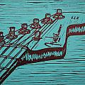Fender Strat Print by William Cauthern