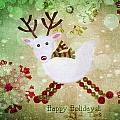 Happy Holidays Poster by Rebecca Cozart