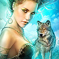 Lady Wolf Poster by Shannon Maer