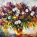 LILAC AND CAMOMILES Print by Leonid Afremov