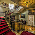 Mansion Stairway Poster by Adrian Evans