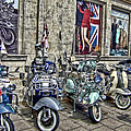 Mod scooters and 60s fashion Print by Jasna Buncic