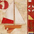 Model Yacht Collage II Poster by Paul Brent
