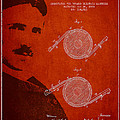 Nikola Tesla Patent from 1886 Print by Aged Pixel