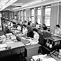 Office Workers Entering Data Print by Underwood Archives