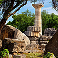 Olympia Ruins Print by Brian Jannsen