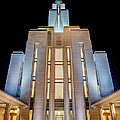 Oquirrh Mountain Temple 1 Print by Chad Dutson
