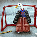 puck duck... by Will Bullas Print by Will Bullas