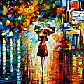 Rain Princess Print by Leonid Afremov