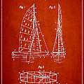 Sailboat Patent Drawing From 1938 Print by Aged Pixel