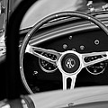 Shelby AC Cobra Steering Wheel Poster by Jill Reger
