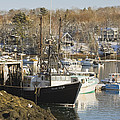 South Bristol and Fishing Boats on the Coast of Maine Print by Keith Webber Jr