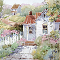 Summer Time Cottage Print by Joyce Hicks