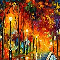 THE SYMPHONY OF LIGHT Poster by Leonid Afremov