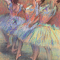 Three Dancers Poster by Edgar Degas